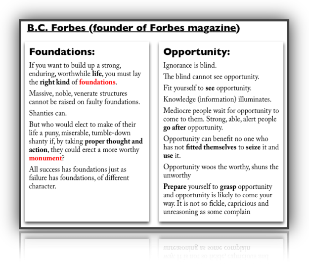 foundations and opportunities