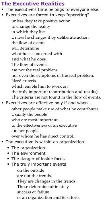 Executive realities